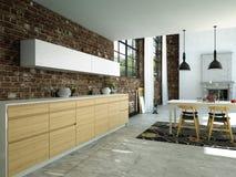 Cozinha moderna Fotos de Stock Royalty Free