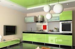 A cozinha moderna Foto de Stock Royalty Free