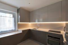 Cozinha moderna fotografia de stock