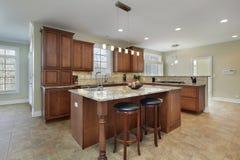 Cozinha moderna com console foto de stock royalty free
