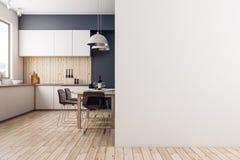Cozinha moderna com copyspace Fotografia de Stock