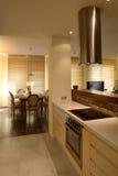 Cozinha moderna do apartamento Imagem de Stock Royalty Free