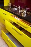 Cozinha moderna elegante Fotografia de Stock Royalty Free