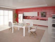 Cozinha moderna funcional Ilustração do Vetor