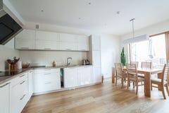 Cozinha moderna interna Imagens de Stock Royalty Free