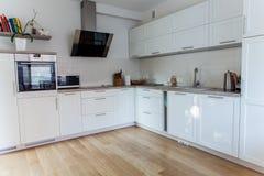 Cozinha moderna interna Imagens de Stock