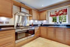 Cozinha moderna luxuosa Fotos de Stock