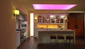 Cozinha moderna luxuoso Fotografia de Stock