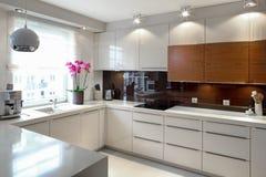Cozinha moderna luxuoso Imagens de Stock Royalty Free