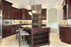 Cozinha na HOME da construção nova Fotografia de Stock