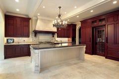 Cozinha na HOME da construção nova Imagens de Stock Royalty Free