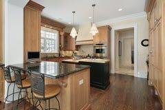 Cozinha na HOME luxuosa Fotografia de Stock Royalty Free