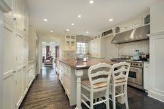 Cozinha na HOME luxuosa Fotografia de Stock