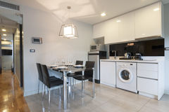 Cozinha no apartamento Imagem de Stock Royalty Free