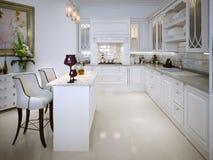 Cozinha no estilo clássico ilustração do vetor