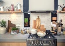 Cozinha no estilo country Fotografia de Stock