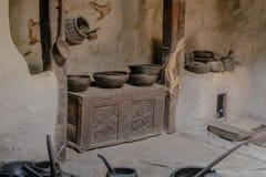 Cozinha no forte antigo de Baltit Vale de Hunza Gilgit baltistan, Paquistão foto de stock royalty free