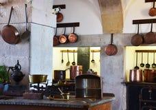 Cozinha no palácio nacional de Pena Fotografia de Stock