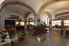 Cozinha no palácio nacional de Sintra, Portugal Foto de Stock