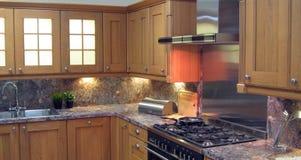 Cozinha nova moderna Foto de Stock Royalty Free