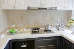 Cozinha nova para dentro, adôbe rgb foto de stock