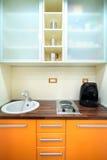 Cozinha pequena Fotografia de Stock Royalty Free