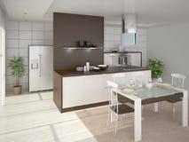 Cozinha perfeita de Interer Ilustração do Vetor