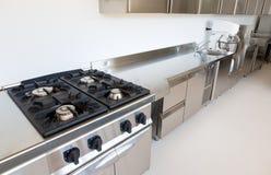 Cozinha profissional Fotografia de Stock Royalty Free
