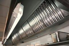 Cozinha profissional, sistemas de exaustão Imagem de Stock Royalty Free