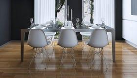 Cozinha que janta o estilo moderno ilustração royalty free