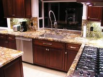 Cozinha remodelada imagens de stock royalty free