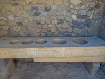 Cozinha romana antiga em Pompeii Fotografia de Stock