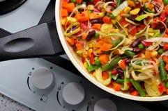 Cozinha, salada, alimento imagem de stock