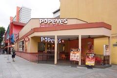 Cozinha Singapura de Popeyes Louisiana fotografia de stock