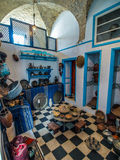 Cozinha tunisina típica preservada em Kairouan Imagem de Stock