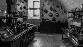 Cozinha velha do palácio de Chenonceau Fotos de Stock