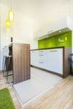Cozinha verde Fotos de Stock Royalty Free