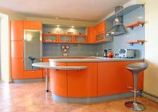 Cozinha vermelha Fotografia de Stock