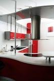 Cozinha vermelha Imagem de Stock