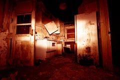 Cozinha vermelha do horror Imagem de Stock Royalty Free