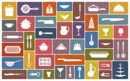Cozinhando ícones Foto de Stock Royalty Free