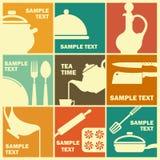 Cozinhando ícones Imagens de Stock Royalty Free