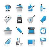 Cozinhando ícones das ferramentas Imagens de Stock Royalty Free
