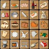 Cozinhando ícones esquadrados Imagem de Stock Royalty Free