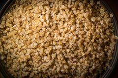 Cozinhando a aveia em flocos de trigo mourisco Imagem de Stock Royalty Free