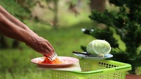 Cozinhando a borsch nacional ucraniana da sopa filme