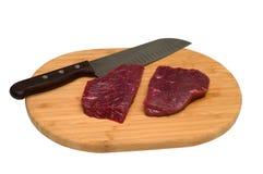 Cozinhando a carne. Fotografia de Stock