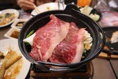 Cozinhando a carne vermelha Fotografia de Stock Royalty Free