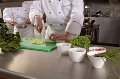 Cozinhando cozinheiros chefe Imagens de Stock Royalty Free