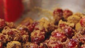 Cozinhando e adoçamento da cereja filme